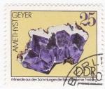 de Europa - Alemania -  1690 - Mineral amatista de Geyer