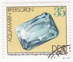 de Europa - Alemania -  1691 - Mineral aguamarina de Irfersgrun