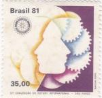 Stamps Brazil -  72 CONVENCION DE ROTARY INTERNACIONAL -SAO PAULO