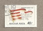Sellos de Europa - Hungr�a -  Bandera de la casa de Arpad