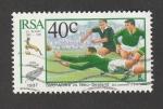 Stamps South Africa -  Sudafrica contra Nueva Zelanda