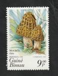 Stamps : Africa : Guinea_Bissau :  345 - Champiñón, Morchella elata