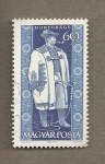 Stamps Hungary -  Trajes provinciales:  Hombre de Hortobagy