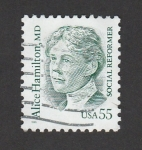 Sellos de America - Estados Unidos -  Alice Hamilton, Médico