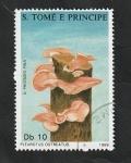 Stamps : Africa : São_Tomé_and_Príncipe :  902 - Champiñón, Pleurotus ostreatus