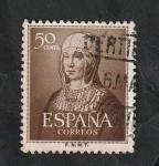 Stamps Spain -  1092 - V Centº del nacimiento de Isabel la Católica
