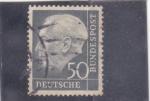 Sellos de Europa - Alemania -  Presidente Theodor Heuss