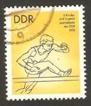 Stamps Germany -  1746 - 5 Sparkiadas juveniles, carrera de vallas