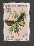 Sellos de Africa - Santo Tomé y Principe -  Catagramma tyca-satrana