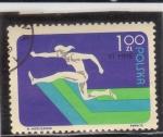 Stamps Poland -  SALTO DE LONGITUD