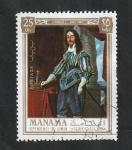 Sellos de Asia - Emiratos Árabes Unidos -  Manama - 67 - Carlos I, Rey de Inglaterra