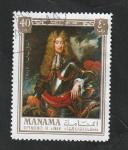 Sellos de Asia - Emiratos Árabes Unidos -  Manama - 67 - Juan II, Rey de Inglaterra