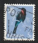 Stamps Uganda -  64 - Ave black bee-eater