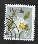 Sellos de Africa - Uganda -  89 - Flor oncoba spinosa