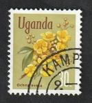 Stamps : Africa : Uganda :  86 - Flor ochna ovata