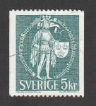 Sellos de Europa - Suecia -  Guerrero con escudo