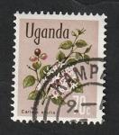 Stamps : Africa : Uganda :  90 - Flor, carissa edulis