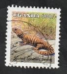 Stamps : Africa : Uganda :  1624 - Reptil