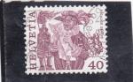 Stamps Switzerland -  FIESTA MEDIEVAL GINEBRA