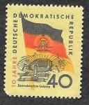 Sellos de Europa - Alemania -  461 - 10ª Aniversario de la República Democrática Alemana