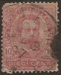 Sellos de Europa - Italia -  Rey Umberto I