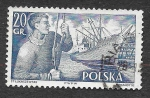 Stamps Poland -  721 - Barco S. S. Pokoj