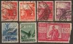 """Sellos del Mundo : Europa : Italia : 1945 Parte de la Serie: """"Democracia"""""""