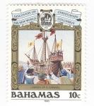 sellos de America - Bahamas -  Descubrimiento del nuevo mundo. Marcha de la Carabela
