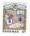 sellos de America - Bahamas -  Descubrimiento del nuevo mundo. Colón el creador de cartas naúticas