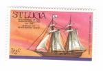 sellos de America - Santa Lucía -  Bicentenario de la revolución americana 1776-1976
