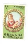 sellos de America - Granada -  Navidad 1976. La Virgen con el Niño