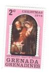 sellos de America - Granada -  Navidad 1976. El Nacimiento