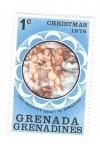 sellos de America - Granada -  Navidad 1976. Los angeles con el Niño