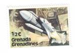 sellos de America - Granada -  Transbordador espacial