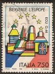 "Sellos de Europa - Italia -  1993 Serie: ""Europa unida"""