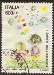 """Sellos del Mundo : Europa : Italia : 1991 Serie: """"Convención sobre los Derechos de la infancia"""""""