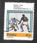Sellos del Mundo : Europa : Polonia :  1406 - Partido de Fútbol