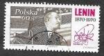 Stamps Poland -  1729 - Lenin