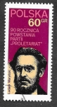 Sellos de Europa - Polonia -  1897 - XC Aniversario del Partido Proletario