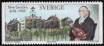 Stamps : Europe : Sweden :  350 New Sweden 1988 Bishop Hill 3,6 kr
