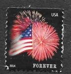 Stamps United States -  4869 - Bandera