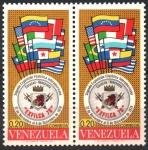Sellos del Mundo : America : Venezuela :  SEGUNDA  EXPOSICIÓN  FILATÉLICA  INTERAMERICANA  EXFILCA  70.  EMBLEMA  Y  BANDERAS.