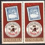 Sellos de America - Venezuela -  SEGUNDA  EXPOSICIÓN  FILATÉLICA  INTERAMERICANA  EXFILCA  70.  EMBLEMA  Y  MAPA.