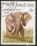 "Sellos del Mundo : Asia : Laos : 1986, Serie: ""Elefantes"""