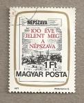 Stamps Hungary -  Portada de periódico