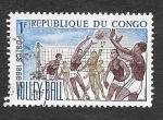 Stamps Republic of the Congo -  143 - Mujeres Jugando a Voleyboll