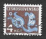 Stamps Czechoslovakia -  J104 - Diseño de Flores Estilizadas