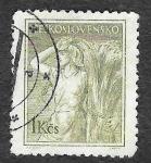 Sellos de Europa - Checoslovaquia -  652 - Granjera