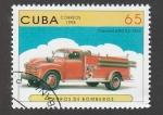 Stamps Cuba -  Camión de bomberos, Chevrolet de 1952