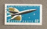 Stamps Hungary -  Lanzamiento cohete a Venus